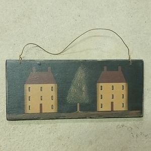 Town Houses with Tree Mini Sign